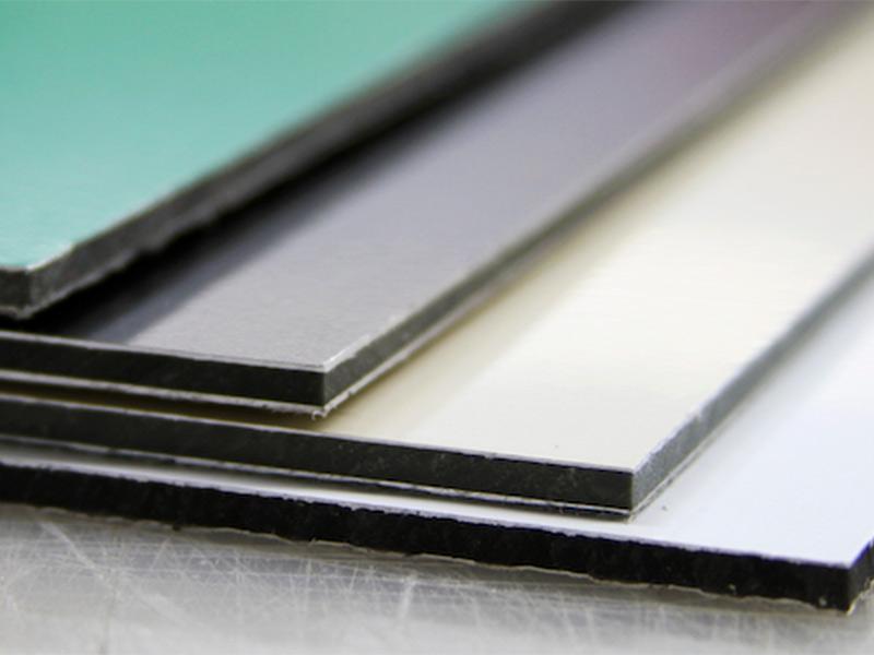 Ipp materiales composite dibond aluboard etc para - Plancha de aluminio ...